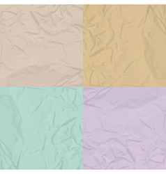 Paper texture four color set vector