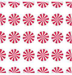 peppermints candies cream seamless pattern vector image