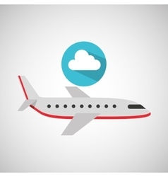 Plane travel weather forecast cloud icon vector