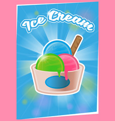 poster ice cream vector image