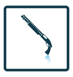Pump-action shotgun icon vector