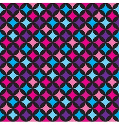 Seamless pattern with blue and pink elements vector