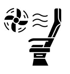 Seat conditioner glyph icon vector