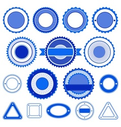 Set of badges labels and stickers in blue vector image vector image