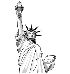 Statue of liberty new york city usa symbol vector