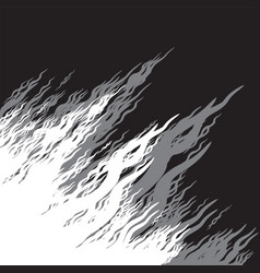 Stylized black-and-white silhouette of a flame vector