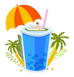 summer tropical vacation beach bar concept sea vector image