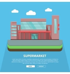 Supermarket Web Template in Flat Design vector