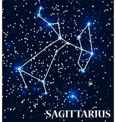Symbol sagittarius zodiac sign vector