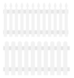 Two white fences vector image