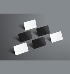 universal mockup of six bank or gift cards vector image