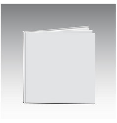 White book template blank cover standing vector