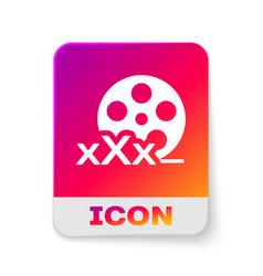 White film reel with inscription xxx icon vector