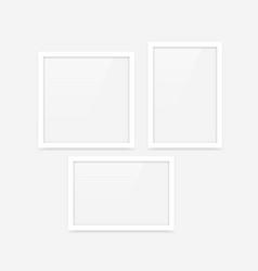white photo frames set vector image