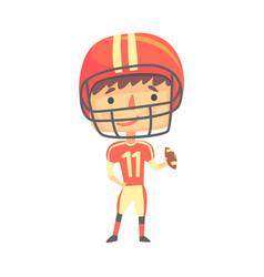 boy american football player kids future dream vector image
