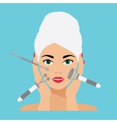 Face Care and Treatment Flat vector image vector image
