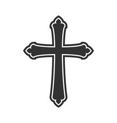 Symbol of a church cross christianity religion vector