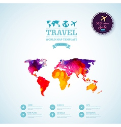 watercolor map web and mobile template Corporate vector image