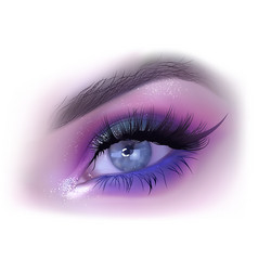 fashion woman eye makeup vector image vector image