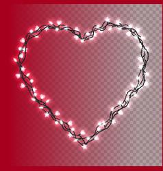glowing christmas lights vector image