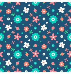 Seamless pattern with small flowers and berries vector image vector image