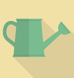 Watering can flat icon vector image vector image