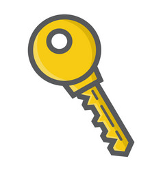 key colorful line icon security and password vector image