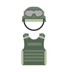 Military clothing uniform isolated on a white vector image vector image