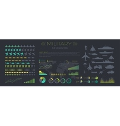 Military Infographics Flat vector image
