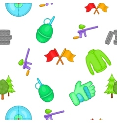 Outfit paintball pattern cartoon style vector image