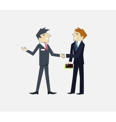 Partners People Icon Flat Design vector image