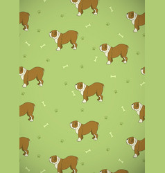 awesome seamless pattern with cute dogs breed vector image
