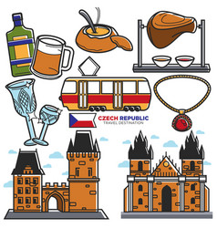 czech travel landmarks and culture famous vector image