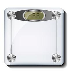 Digital bathroom scale vector image vector image