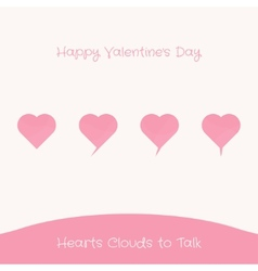 Hearts Clouds to Talk vector image vector image