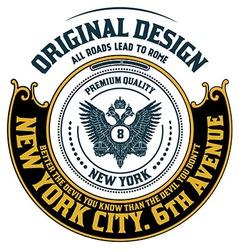 Retro emblem heraldic elements vector