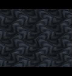seamless dark black pattern wavy endless texture vector image vector image