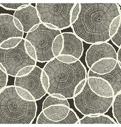 seamless tree rings pattern vector image vector image