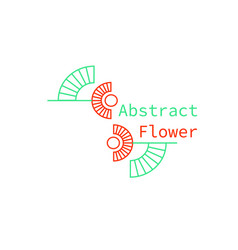 an abstract geometrical flower logo vector image