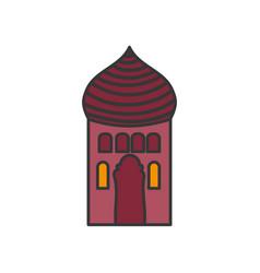 arabic castle tower classic antique icon vector image