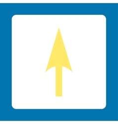 Arrow Axis Y flat yellow and white colors rounded vector image