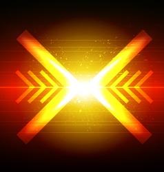 arrow crash design vector image