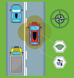 autonomous car technology vector image