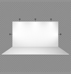 blank white trade show booth with lighting vector image