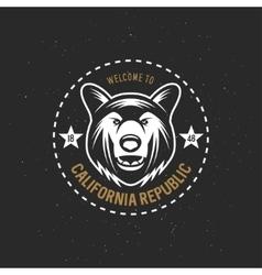 California republic t-shirt graphics vector