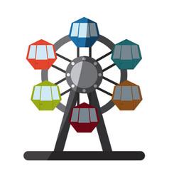 circus wheel icon vector image