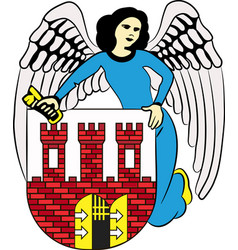 Coat of arms of torun in kuyavian-pomeranian vector