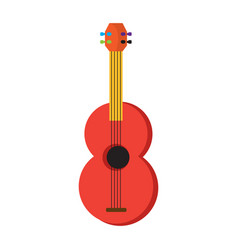 Colored guitar toy icon vector