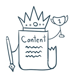 Content is king vector image