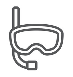 diving mask line icon diving and underwater vector image